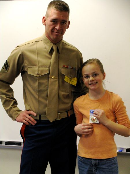Ainsworth Community Schools - Marine Visits Elementary Classrooms